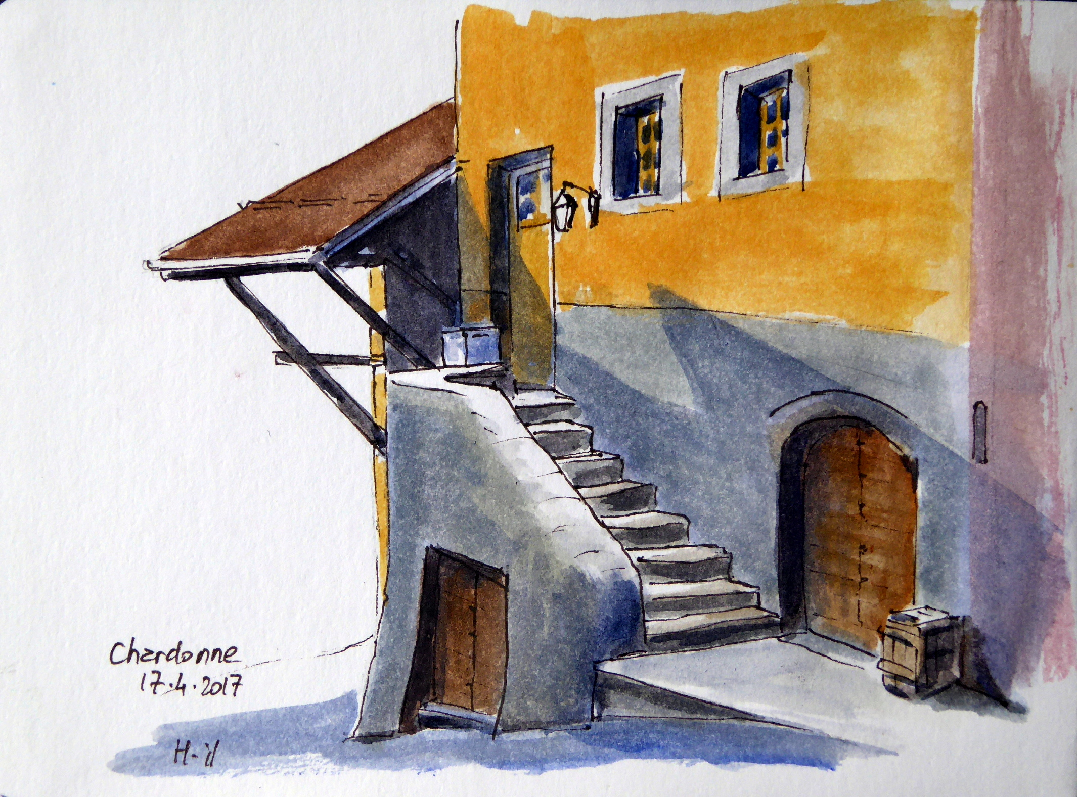 Chardonne escalier