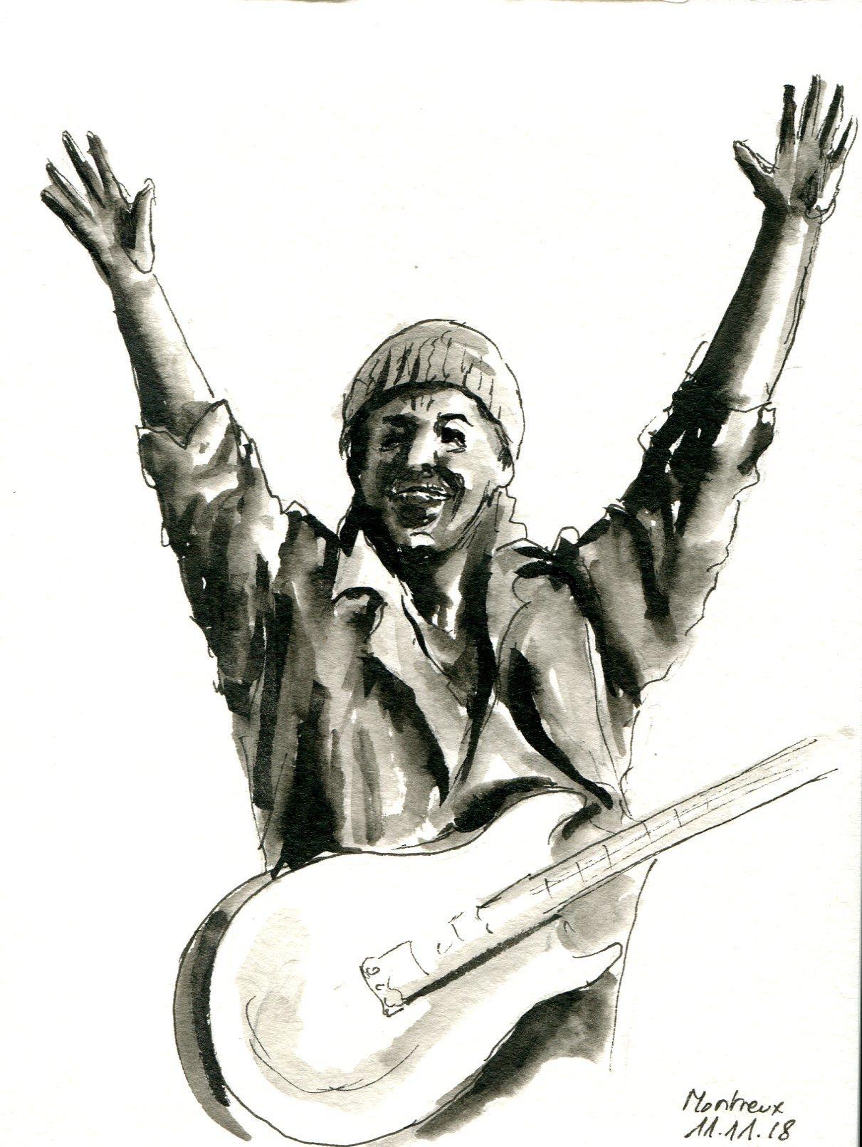 Statue Santana