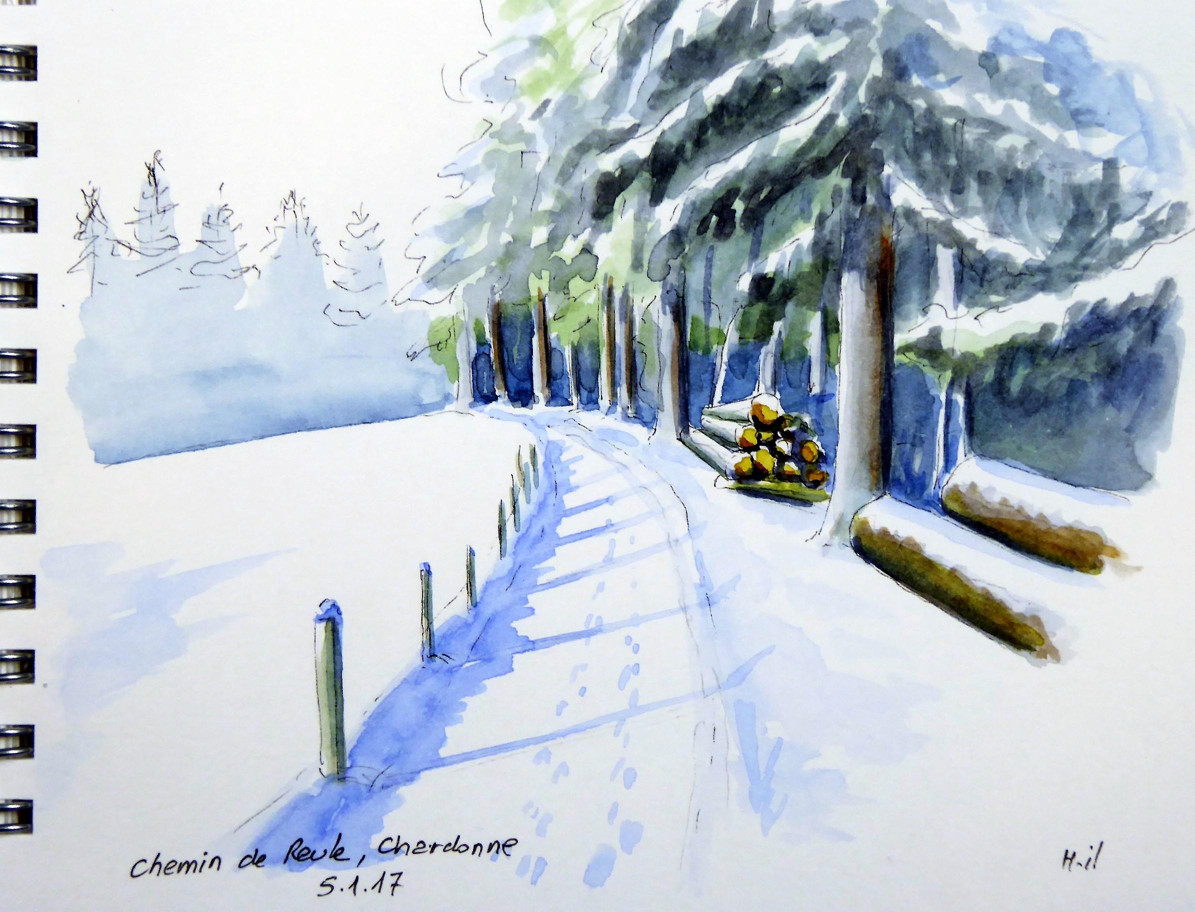 chemin de reule neige