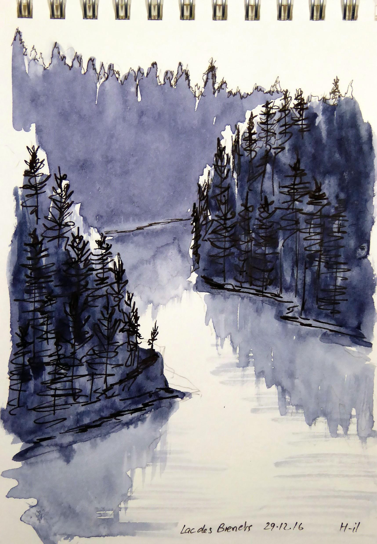 Rocher de la Vierge, Lac des brenets