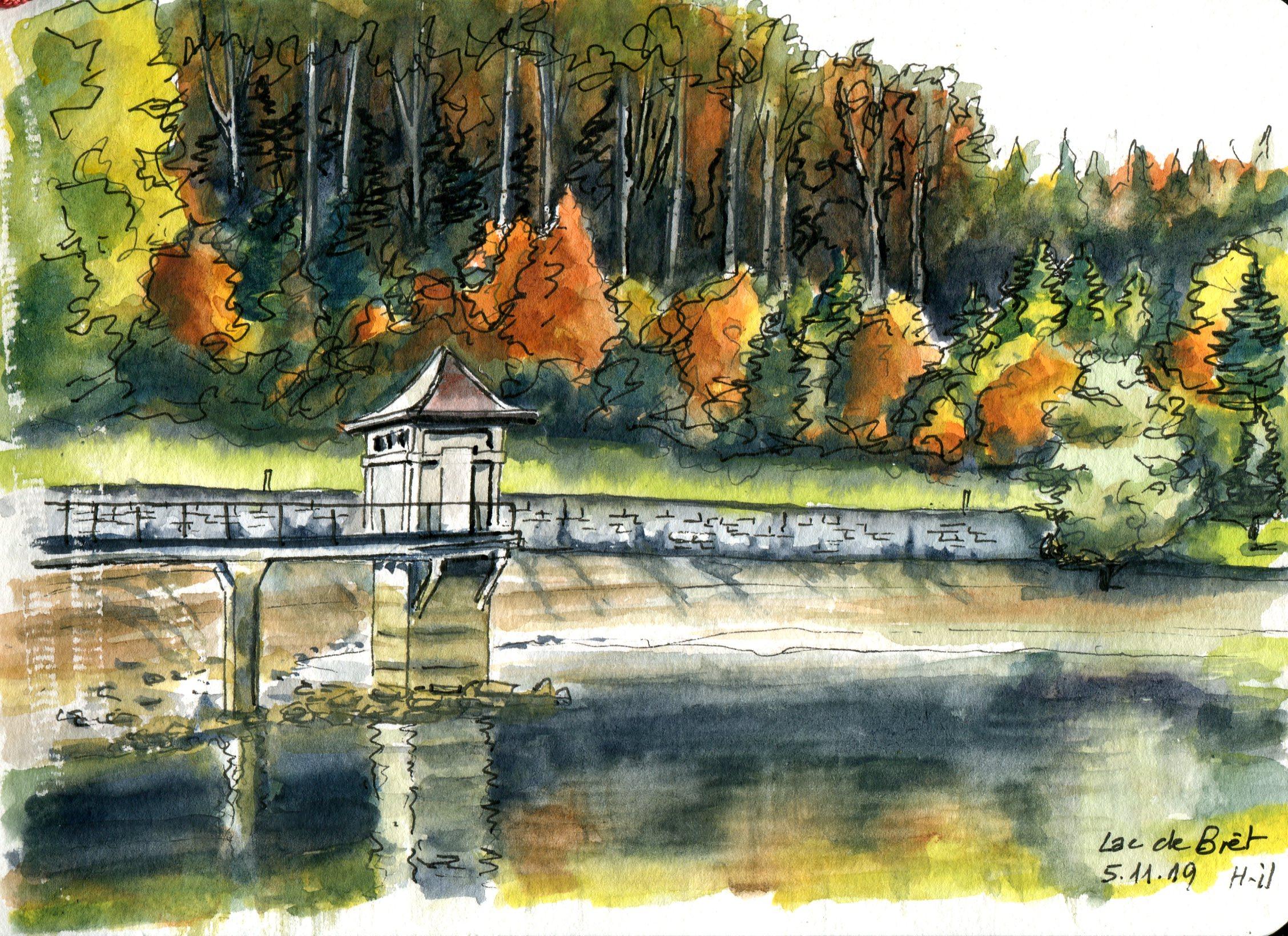 Lac de Bret automne007