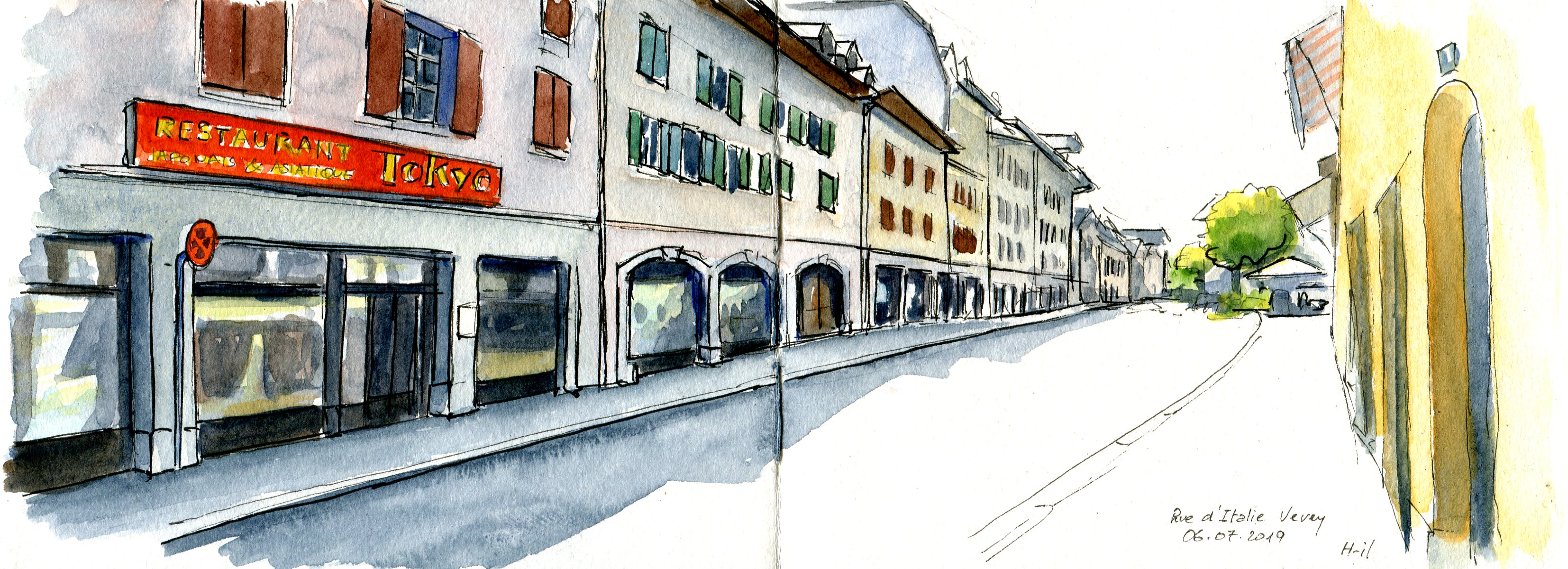 Vevey rue d'Italie