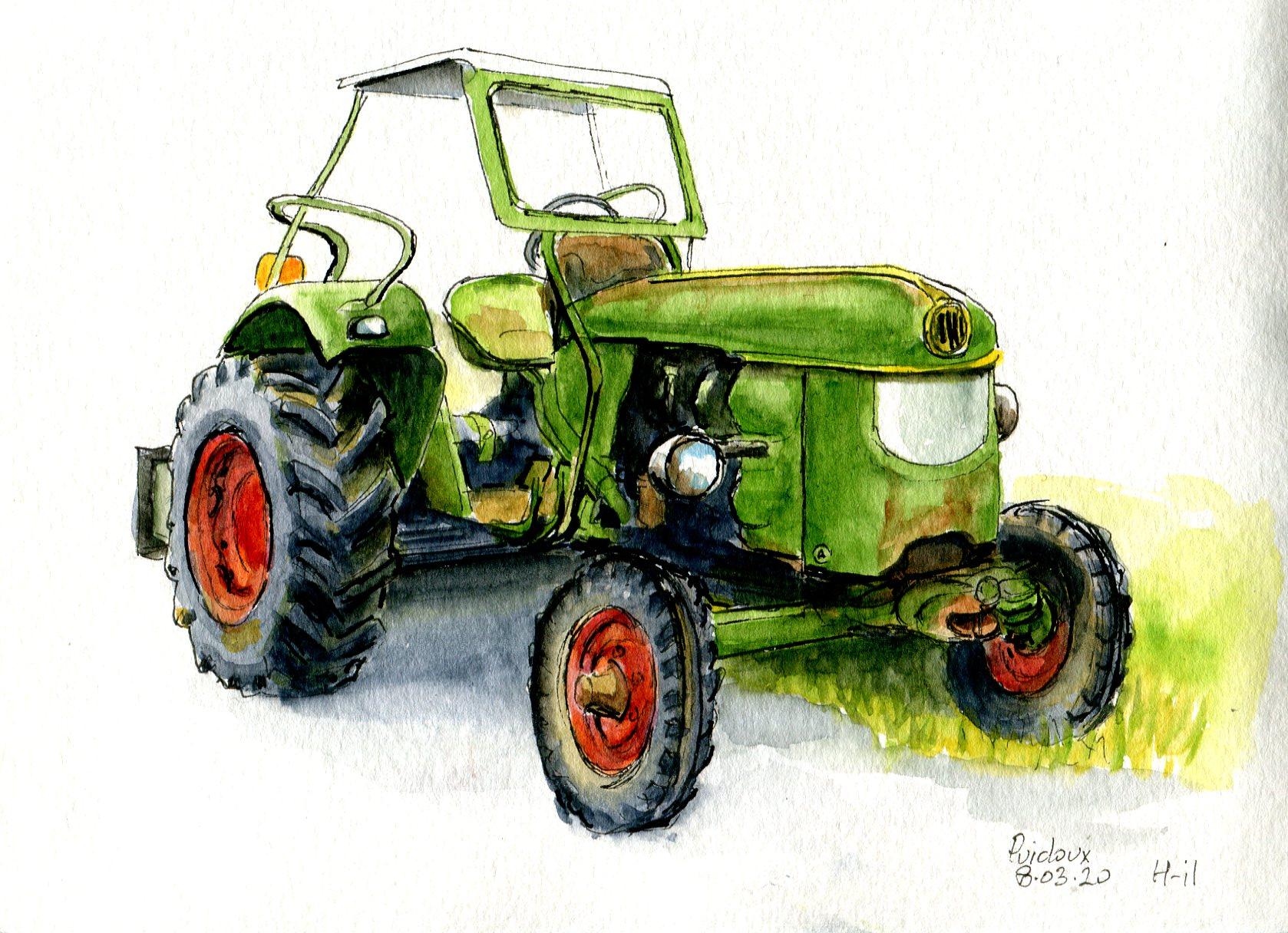 Tracteur vert134