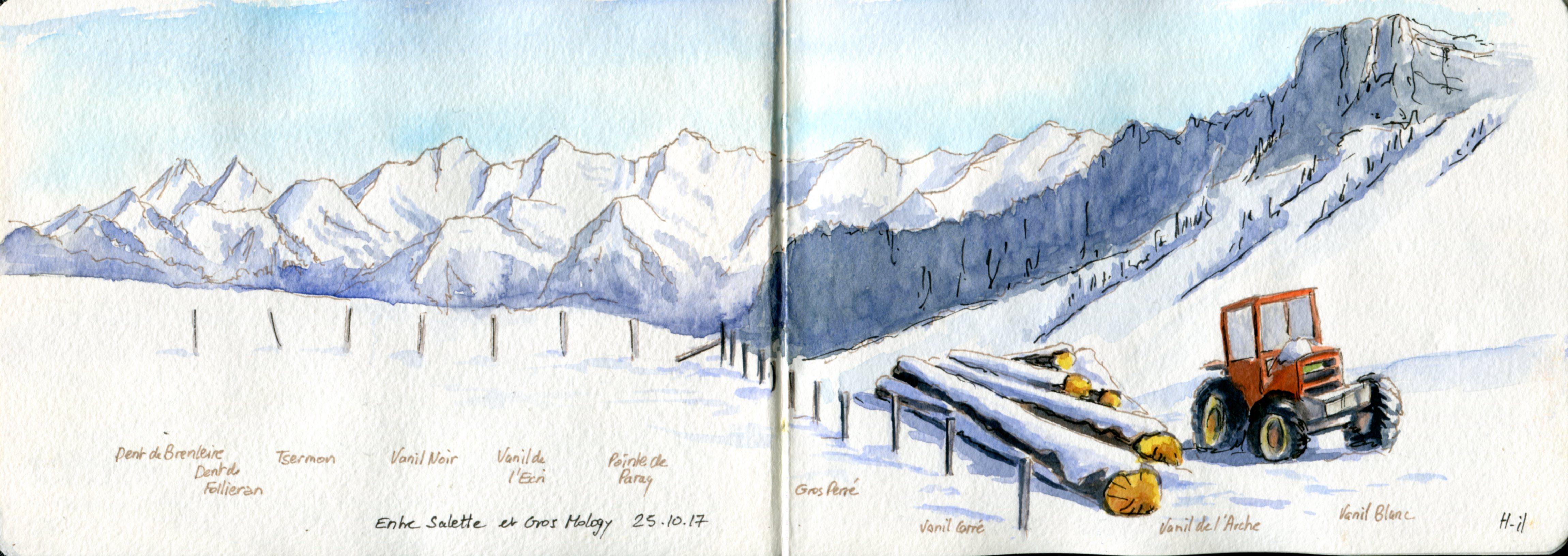 panorama Col de Belle Chaux