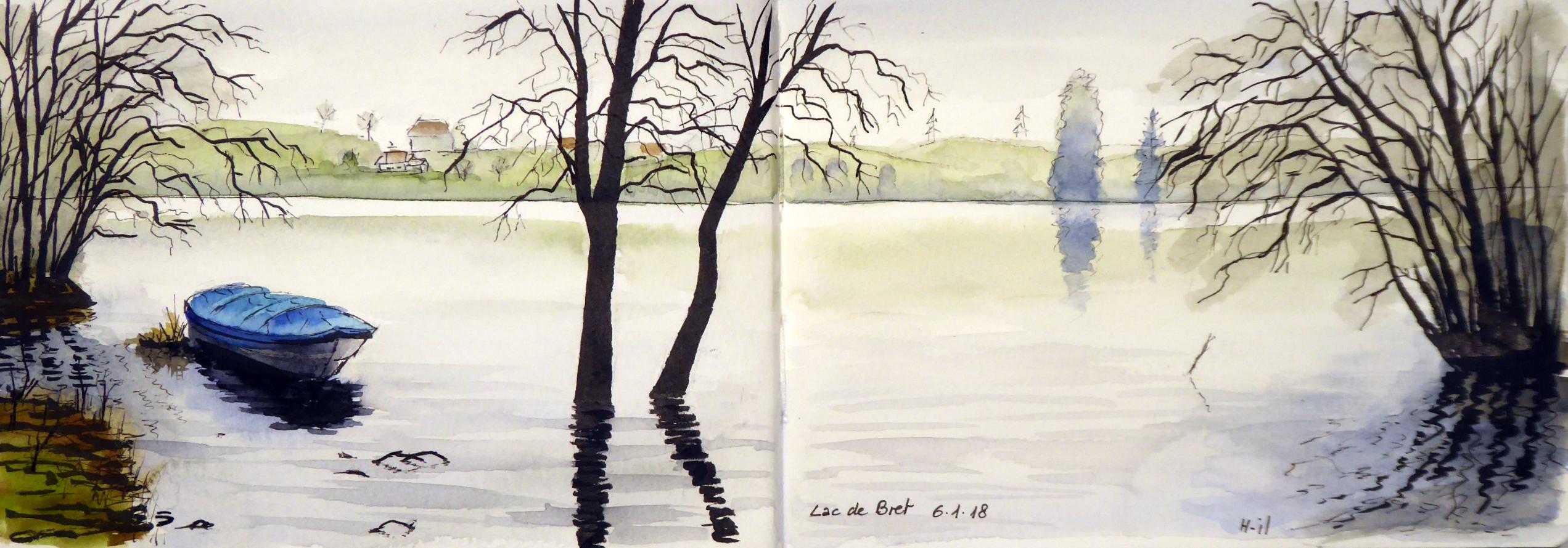 Lac de bret janvier