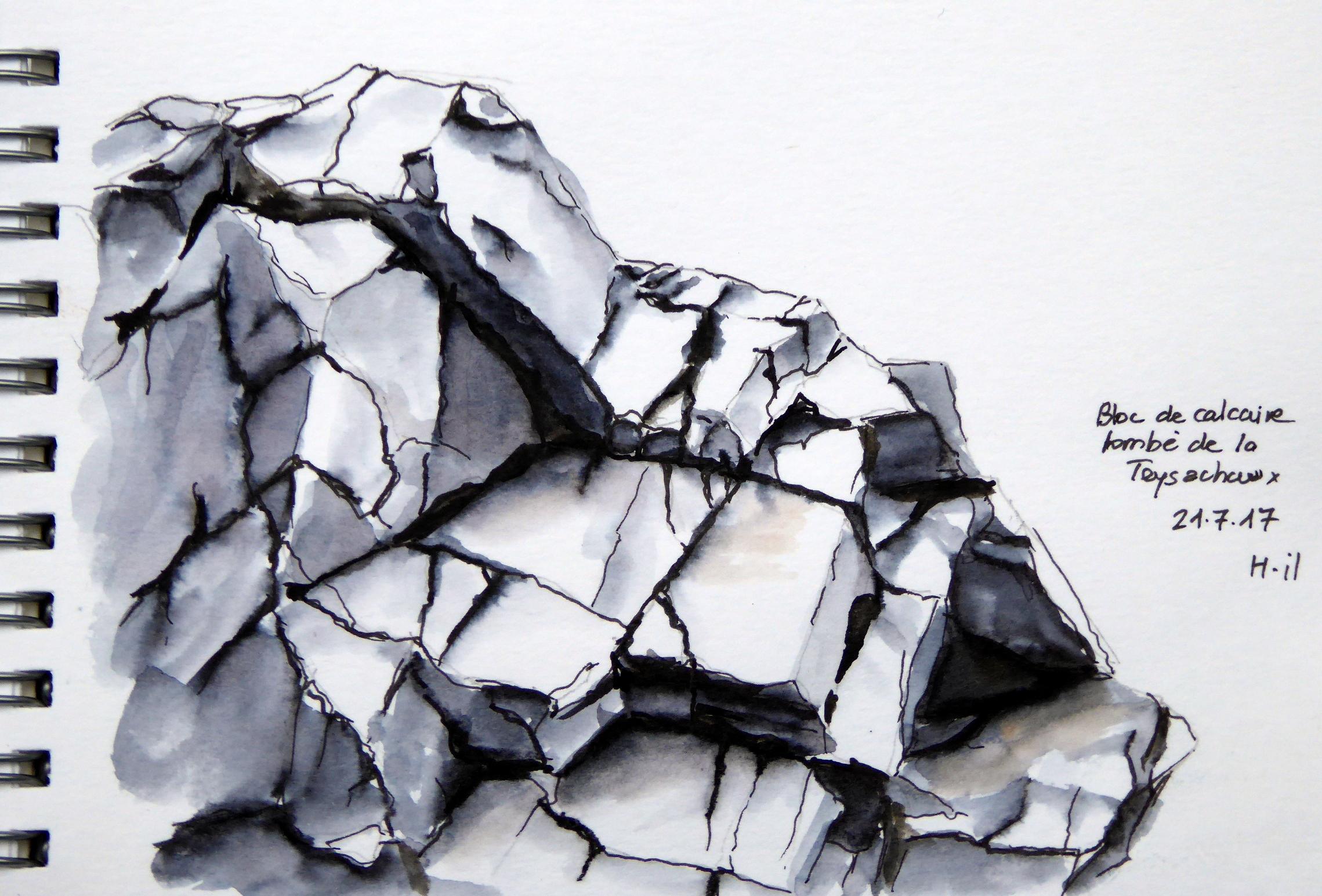 Bloc de calcaire