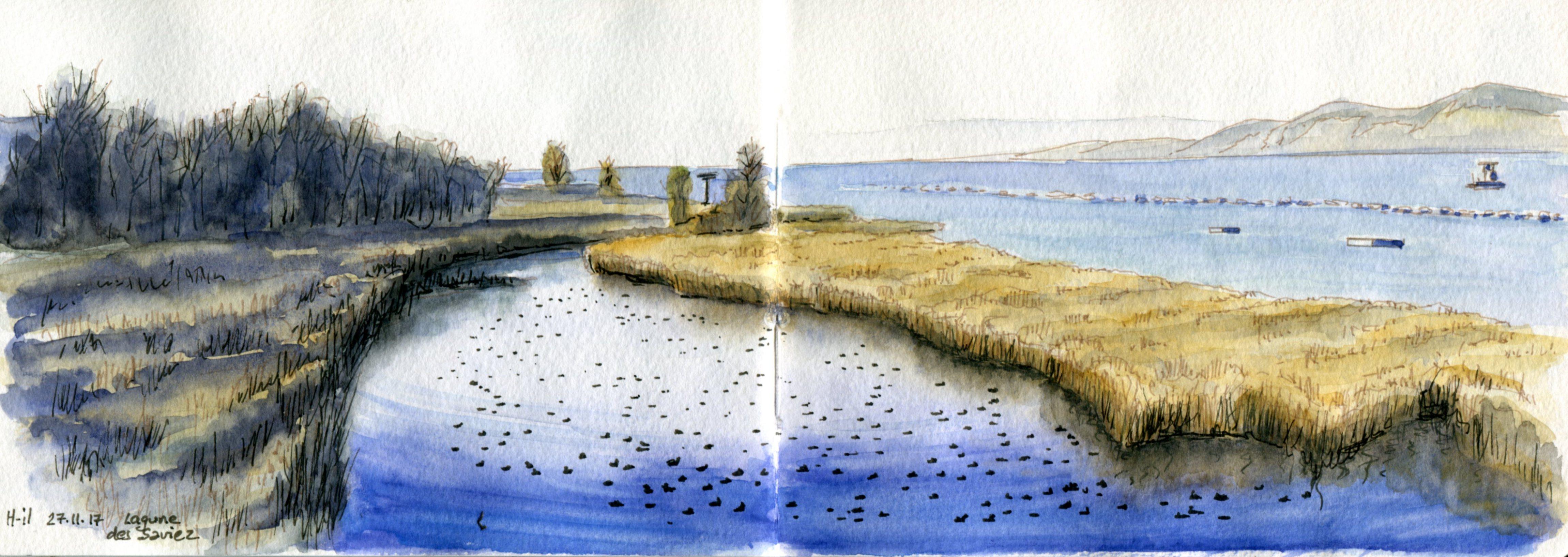 panorama Lagune des Saviez
