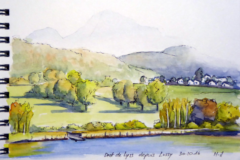Dent de Lyss lac Lussy