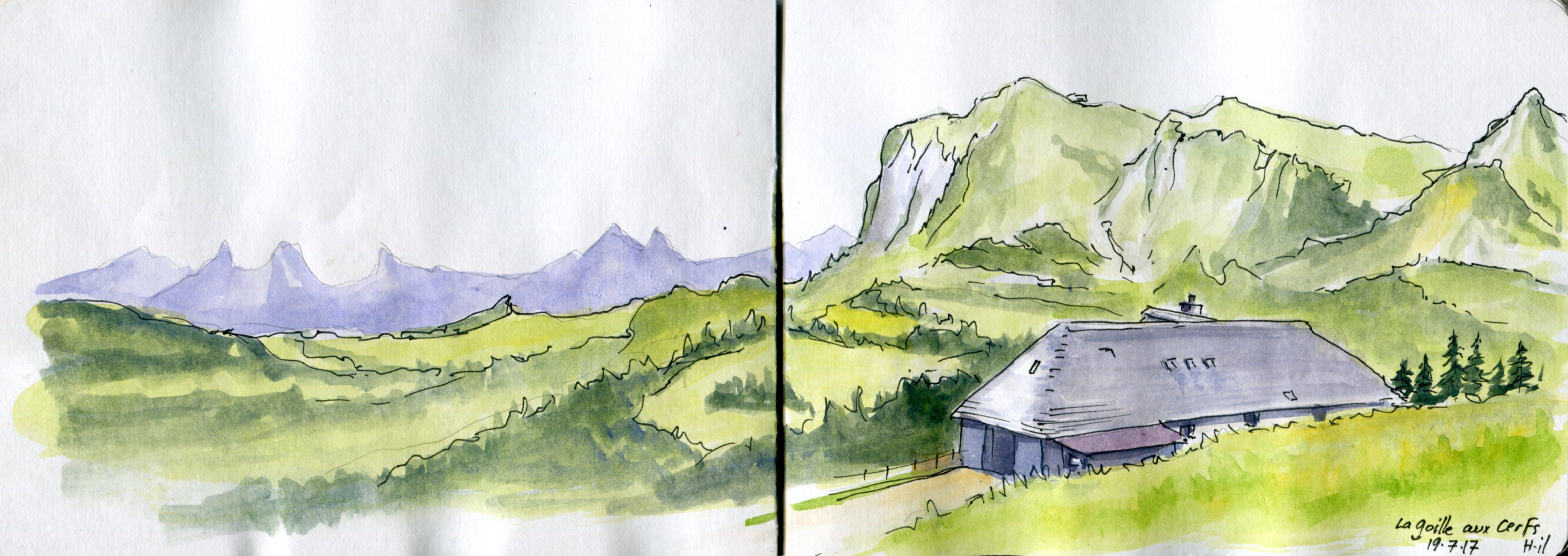 panorama Goille au Cerf