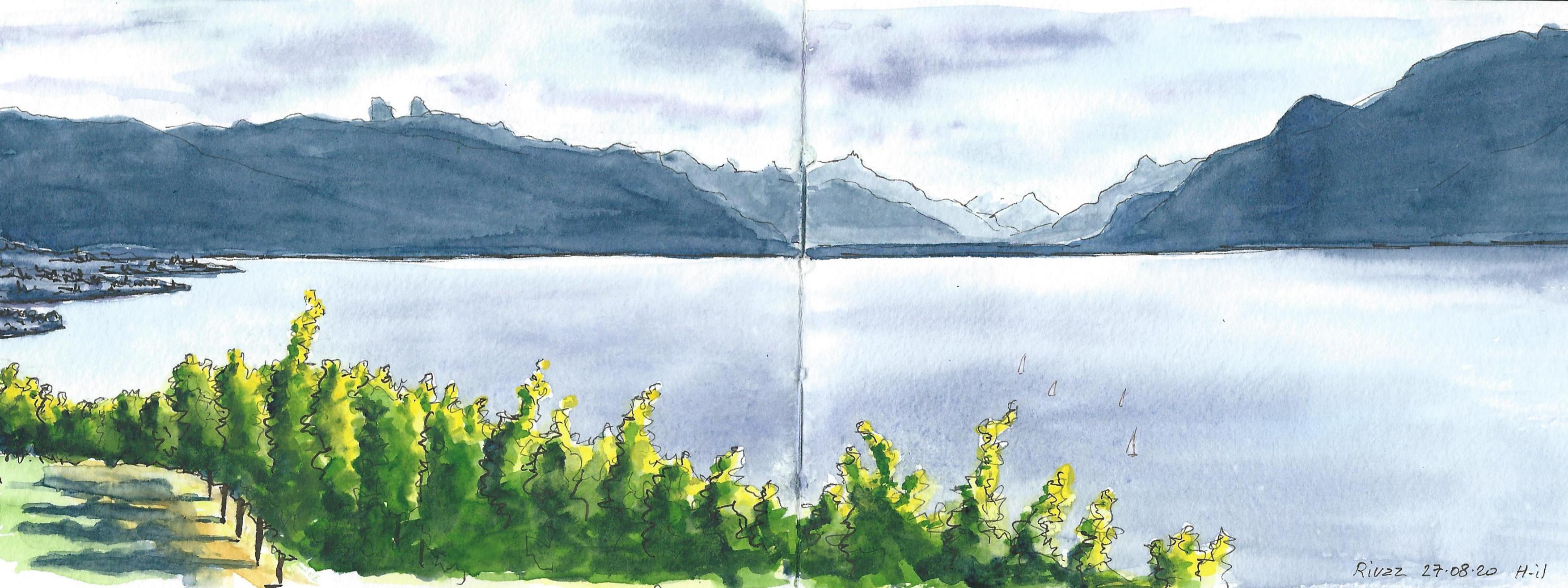 Haut lac Rivaz