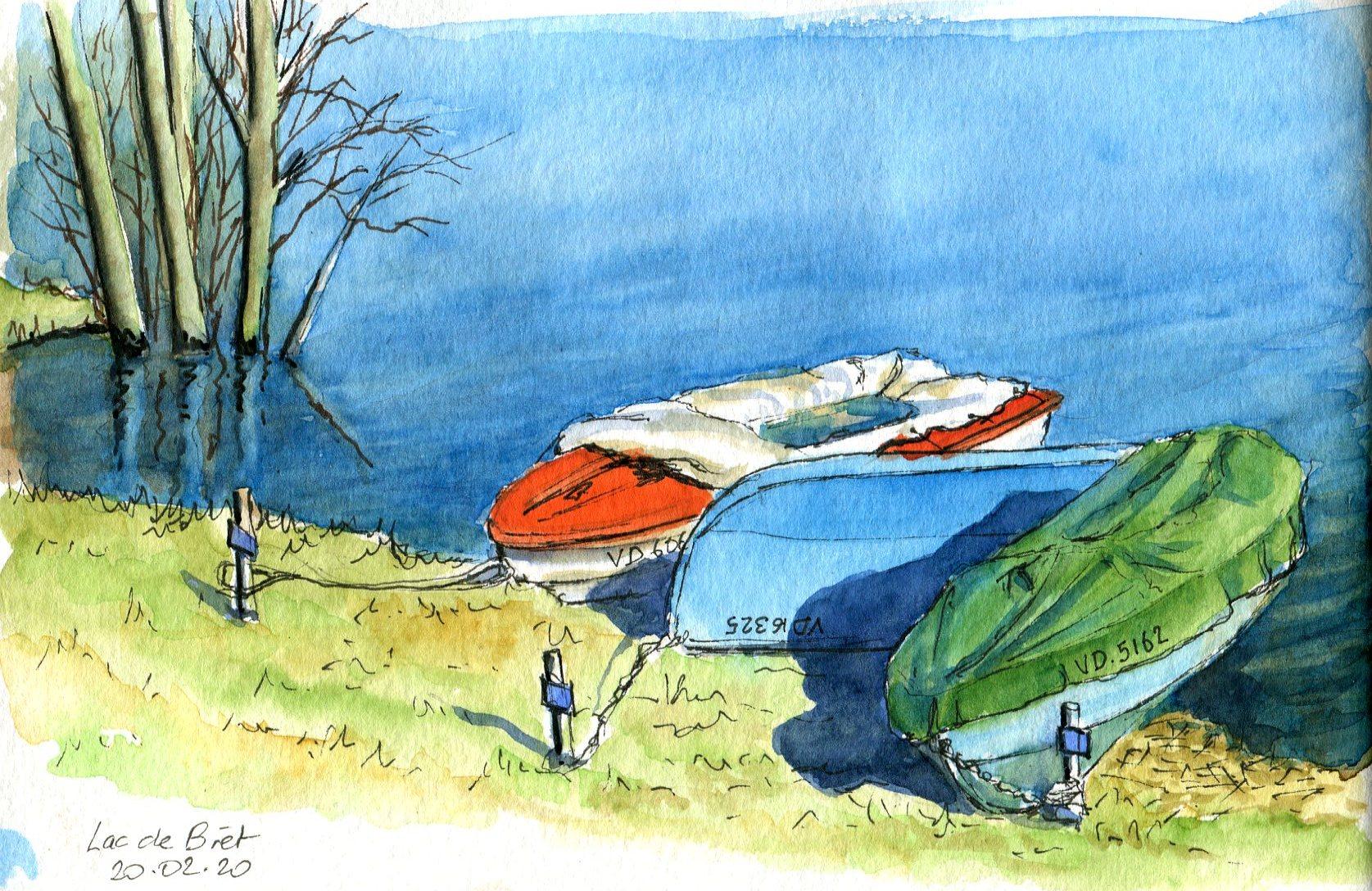 Barques Lac de Bret114