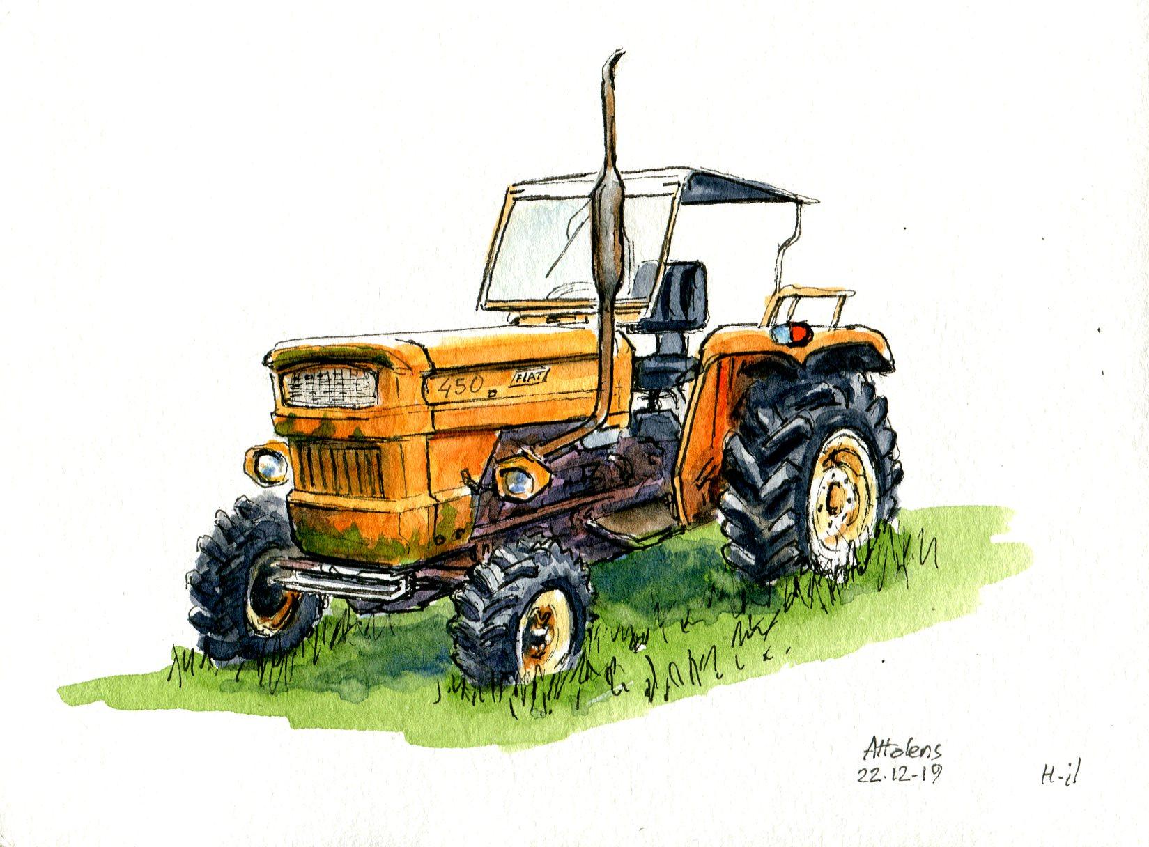 Vieux tracteur Fiat043