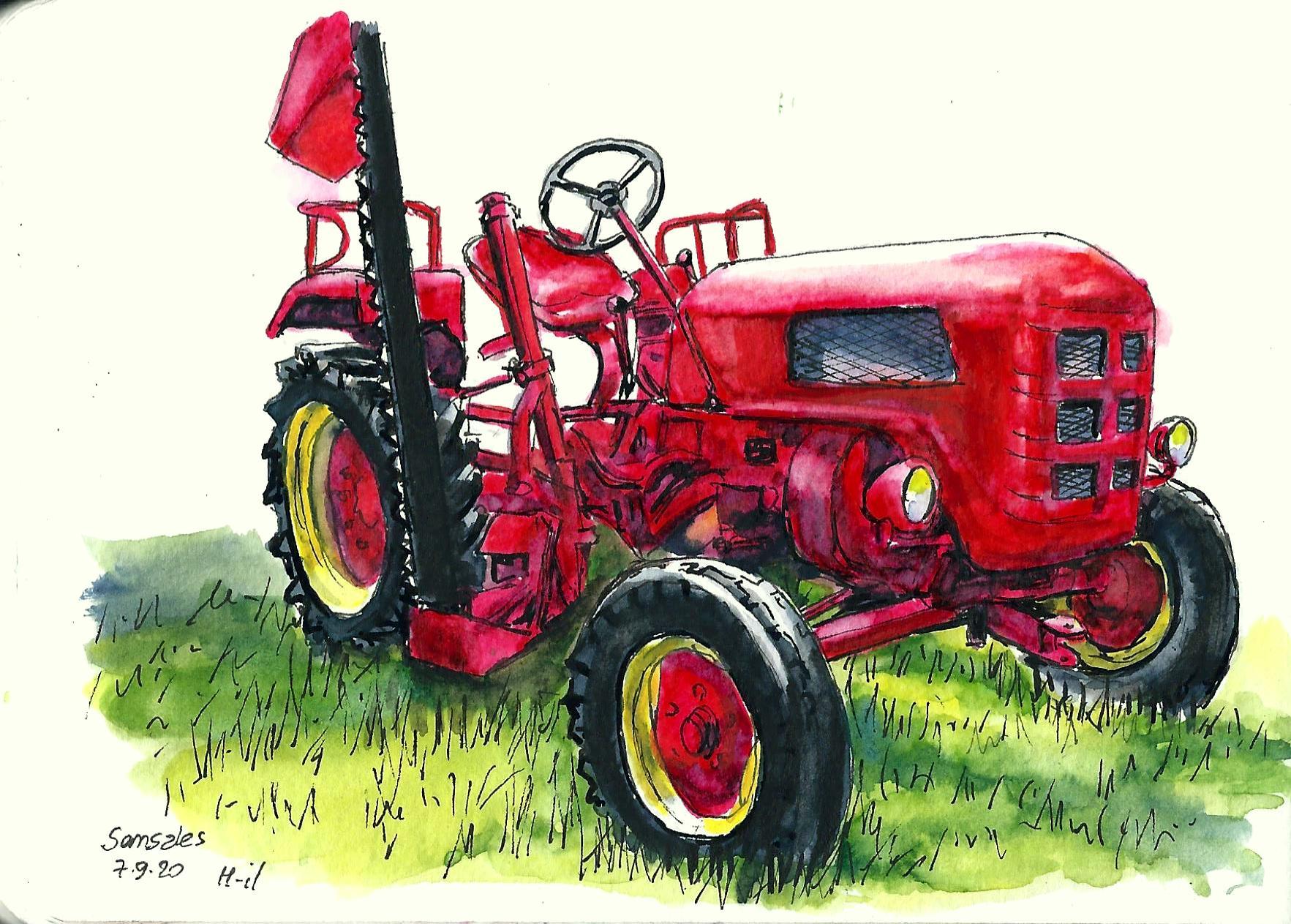 Tracteur Rouge Semsales