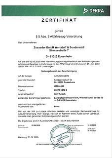 Altfahrzeug Verordnung - Zosseder GmbH W