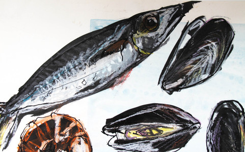 observational drawing - fish