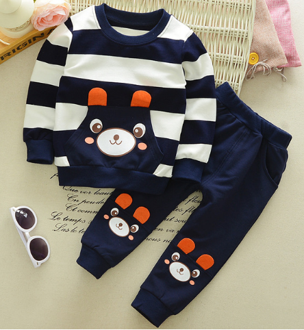 f8285665db8 Baby Boy Clothes Spring Autumn Cartoon long sleeve t-shirt + casual long  pants 2