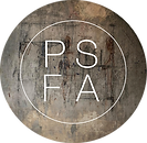 PSFA just circle textured logo Helv neue