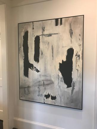 Reverie 48 x 60 oil in floater frame