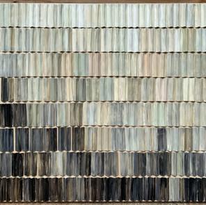 Meditation 31 x 41 in steel floater frame