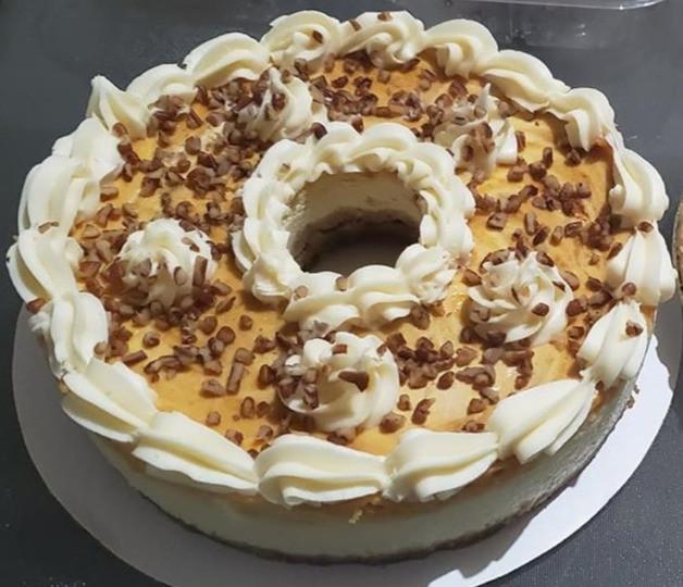 Sweet Potato Pie Cheesecake with Pecans