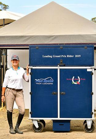Leading GP Rider Carol Wright with her c