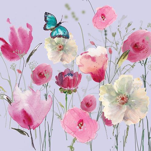 Mauve floaty floral