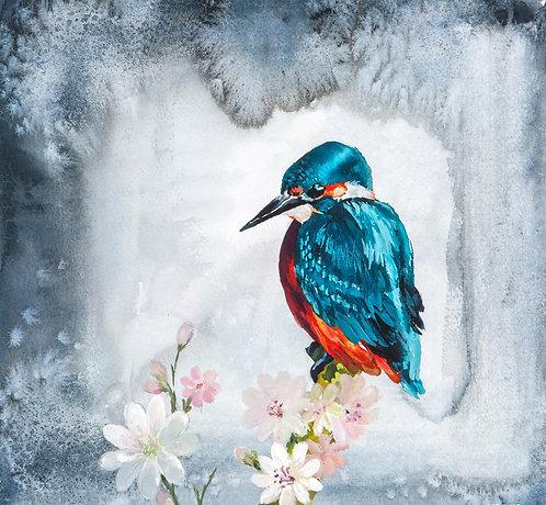 Original Kingfisher watercolour painting