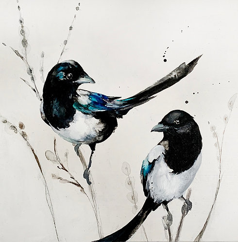 """""""Joy"""", two magpies"""
