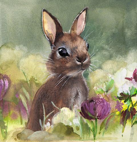 Original Rabbit in green meadow