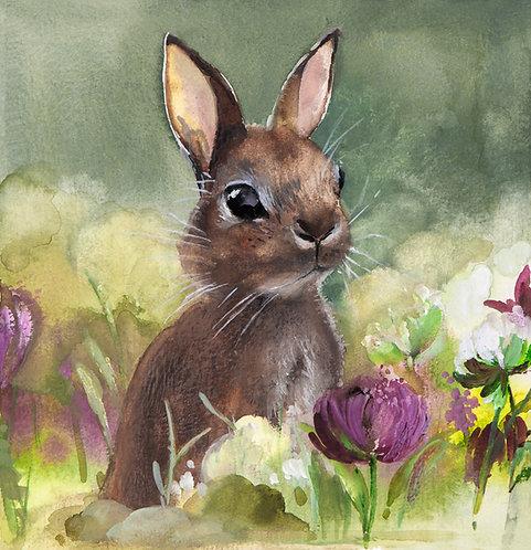 Rabbit in green meadow