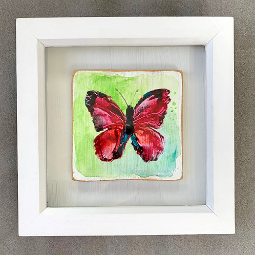 Small original butterfly painting