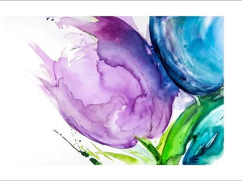 Rainbow tulips limited edition print