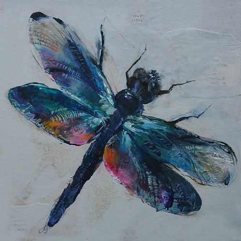 Dragon fly small original painting