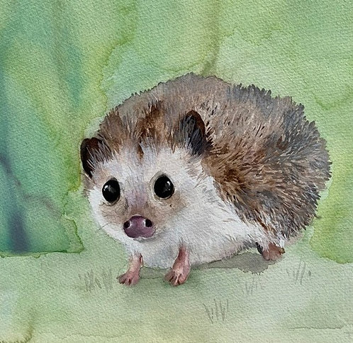 Original painting of Mrs Hedgehog