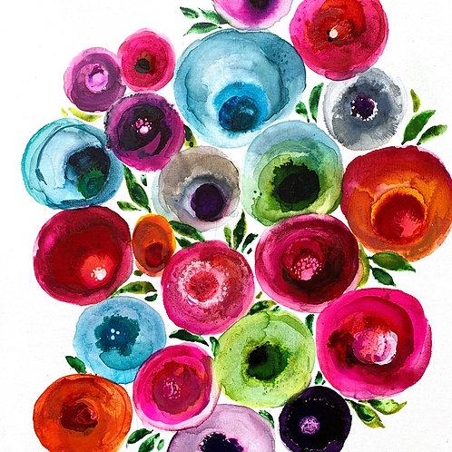 Consentric flowers