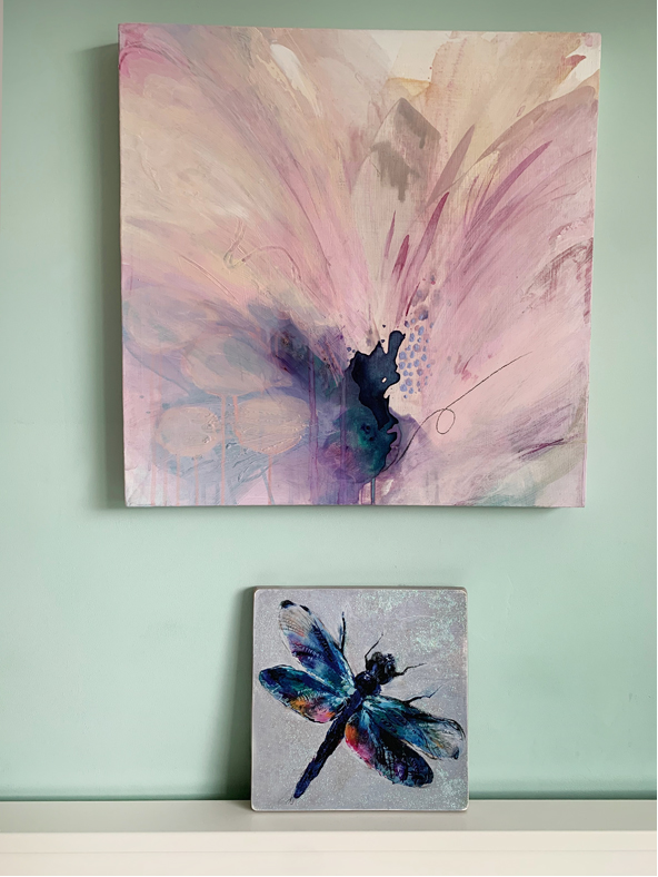 Ethereal originalpainting and dragon fly