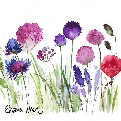 Large watercolour flowers