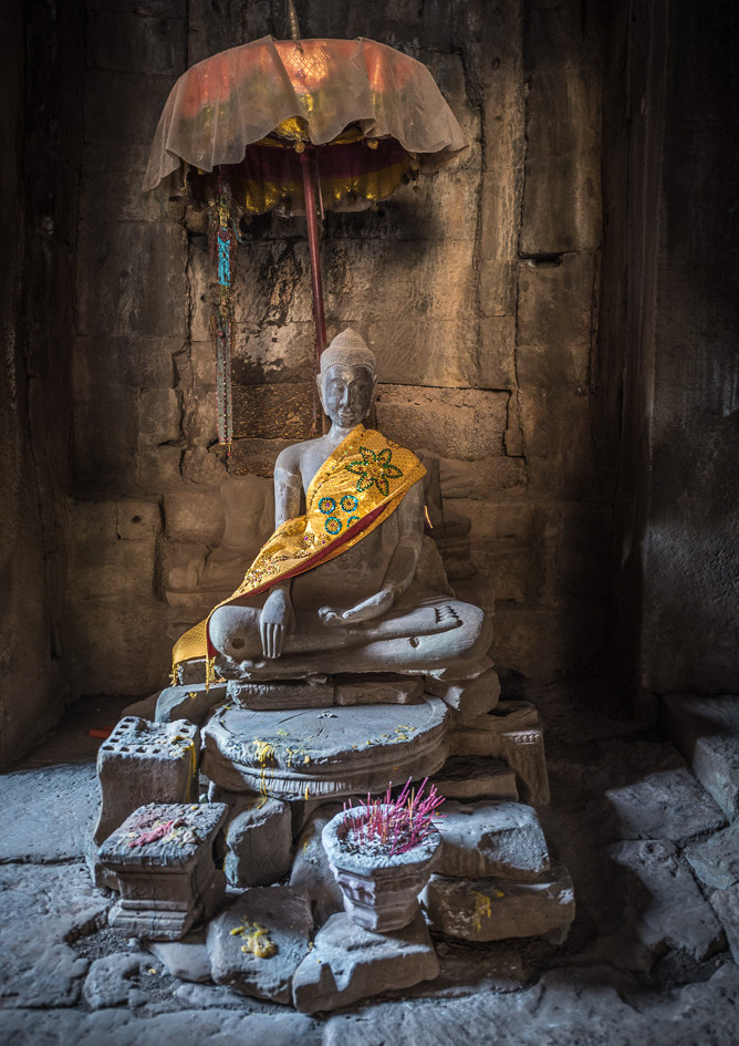 Buddha, Bayon temple, Cambodia