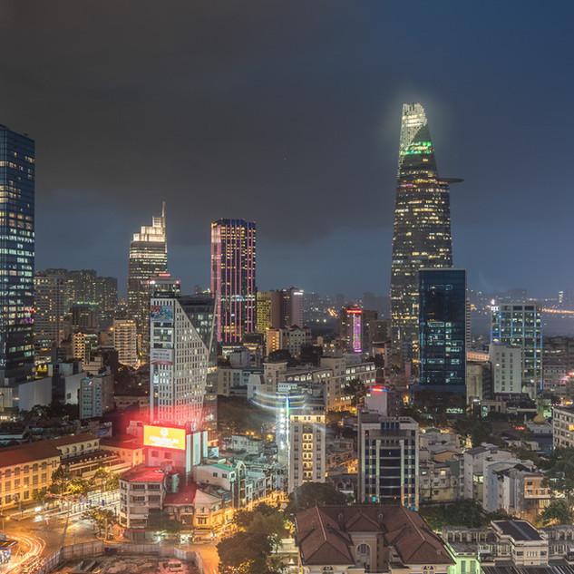 Saigon by night, Vietnam