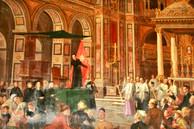 Cuadro en San Lorenzo in Damaso, Roma.
