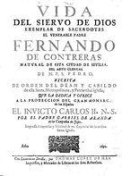 """Libro """"Vida del Venerable Padre Contreras"""" 1692"""