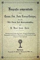 """Libro """"Biografía Doña Teresa Enríquez"""" 1825"""