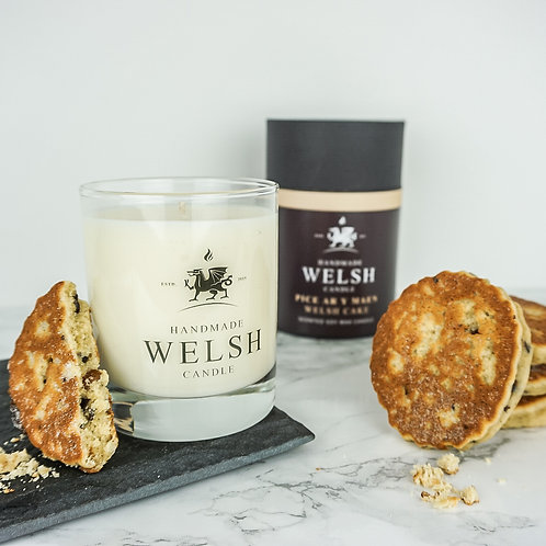 WELSH CAKE GLASS JAR CANDLE