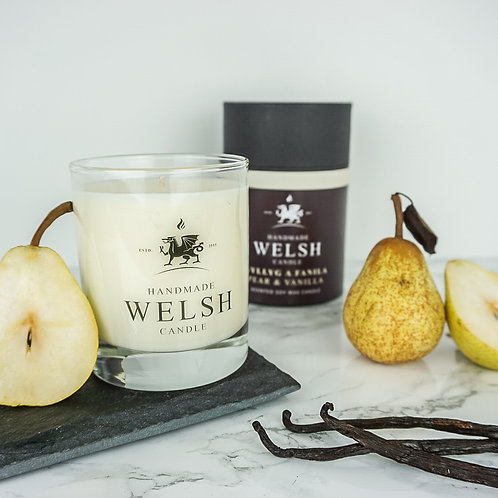 PEAR & VANILLA GLASS JAR CANDLE