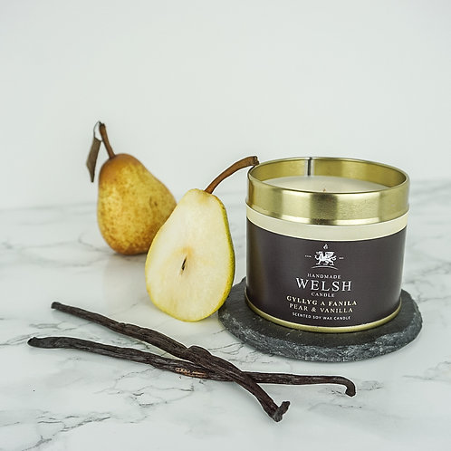 PEAR & VANILLA TIN CANDLE