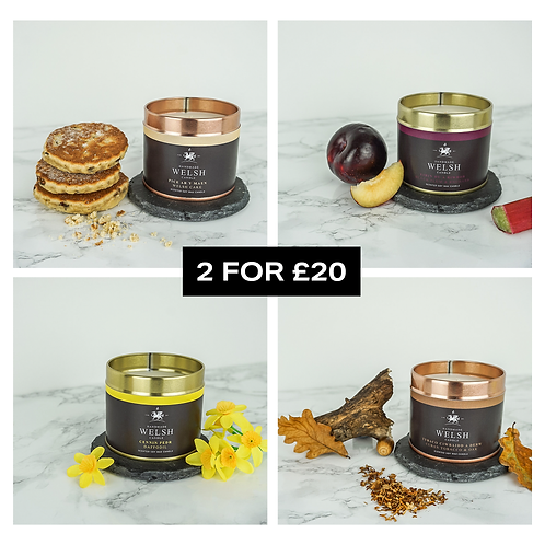2 TIN CANDLES FOR £20