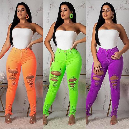 Neon cut pants