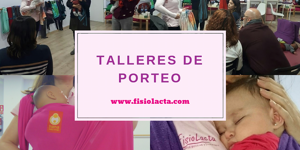 TALLER INICIACIÓN AL PORTEO FEBRERO 2019