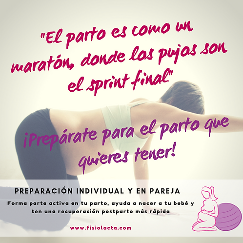 Curso Preparación al parto personalizado (Curso básico 4 sesiones)