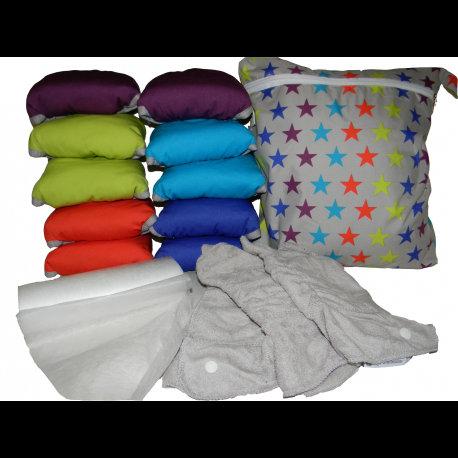 Pack 10 Pop in Bambú Colores brillantes con accesorios